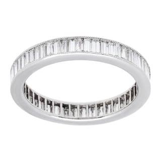 Platinum 1 1/2ct TDW Estate Eternity Band Ring (H-I, VS1-VS2) (Size 5)