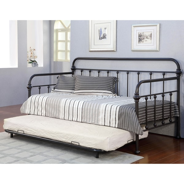 Of America Lissa Modern  Piece Metal Daybed With Trundle Set
