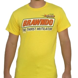 Men's Yellow Brawndo The Thirst Mutilator Idiocracy T-shirt