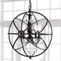Benita Antique Bronze 4-light Iron Orb Crystal Chandelier