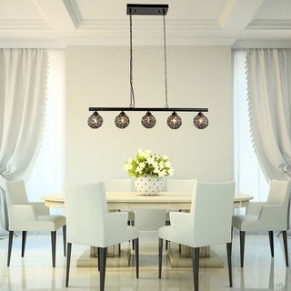 Fabiola Ironwork 5-light Linear Pendant