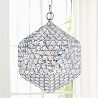 Serafina Polygon Chrome Crystal Pendant Chandelier