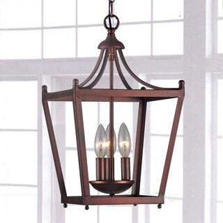 Jacinta 3-light Iron Pagoda-shape Lantern Chandelier
