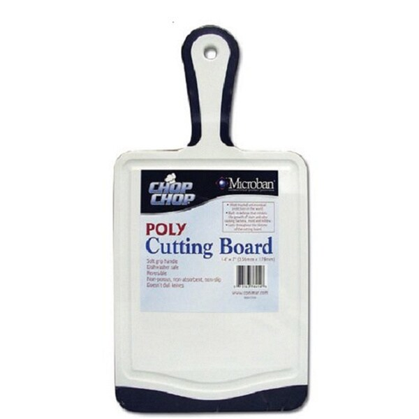 Chop Chop Microban Cutting Board with Black Trim and Handle