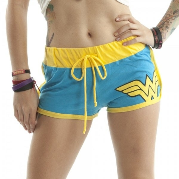 Women's Wonder Woman Superhero Boy Shorts