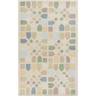 Mike Farrell :Hand-Tufted Andres Geometric Wool Rug (8' x 11')
