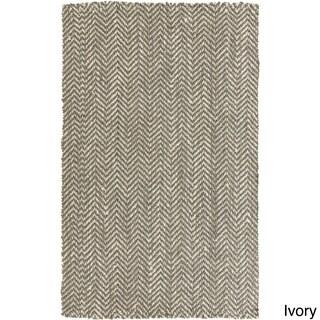 Hand-Woven Abbie Stripe Pattern Jute Rug (2' x 3')