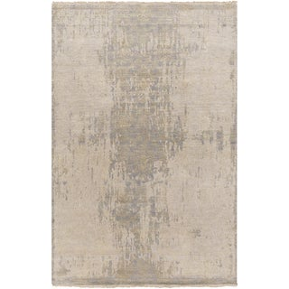 Hand-Knotted Chris Damask Pattern Silk Rug (6' x 9')