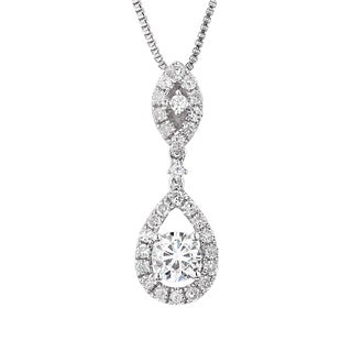 Charles and Colvard Sterling Silver Classic Moissanite Round 0.79TGW Fashion Pendant