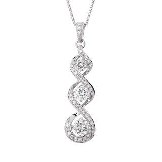 Charles and Colvard Sterling Silver Moissanite Round 1.805 TGW Fashion Pendant