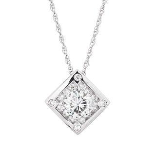 Charles and Colvard Sterling Silver Moissanite Round 2.74 TGW Fashion Pendant