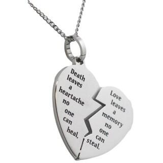Stainless Steel Broken Heart Bereavement Necklace