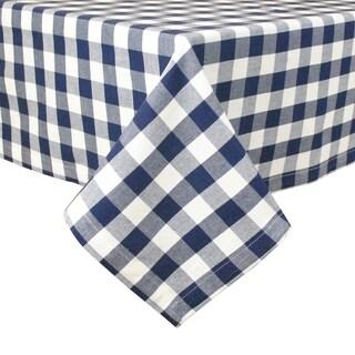 Navy Checkered Tablecloth