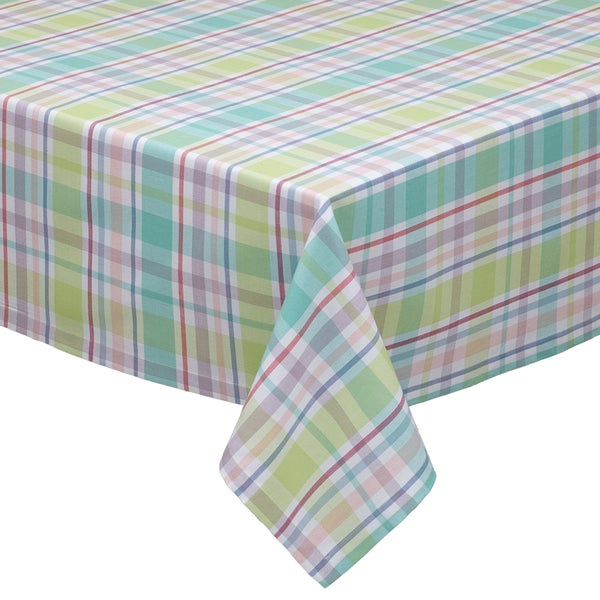 Spring Fling Plaid Tablecloth