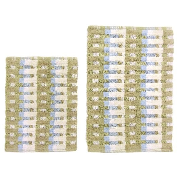 Celebration 2-piece Matrix Multi Stripe Bath Mat Set
