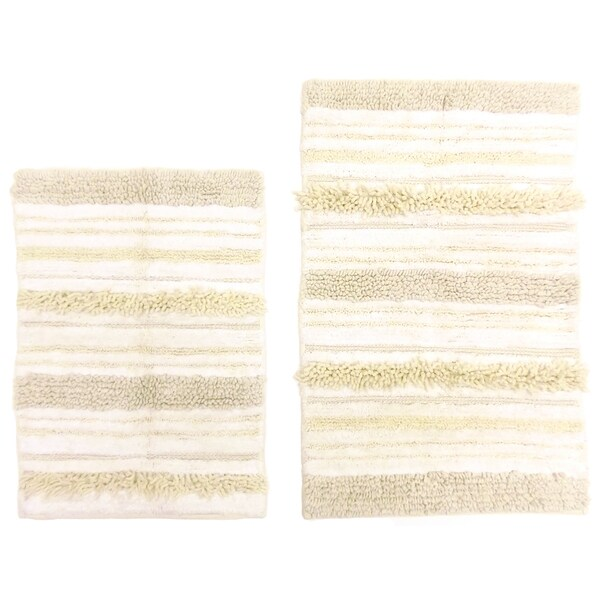 Celebration 2-piece Milan Stripe Bath Mat Set