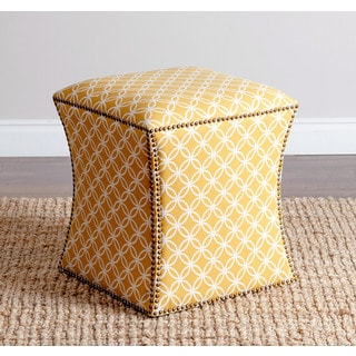 ABBYSON LIVING 'Kimberly' Mustard Yellow Nailhead Trim Ottoman