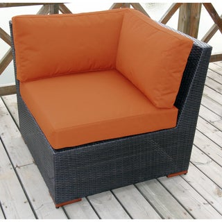 Andover Brown Wicker Sectional Corner Seating