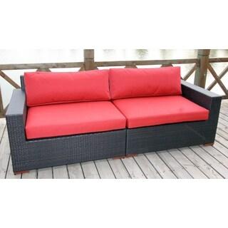 Andover Dura-Fast Red Olefin Sofa