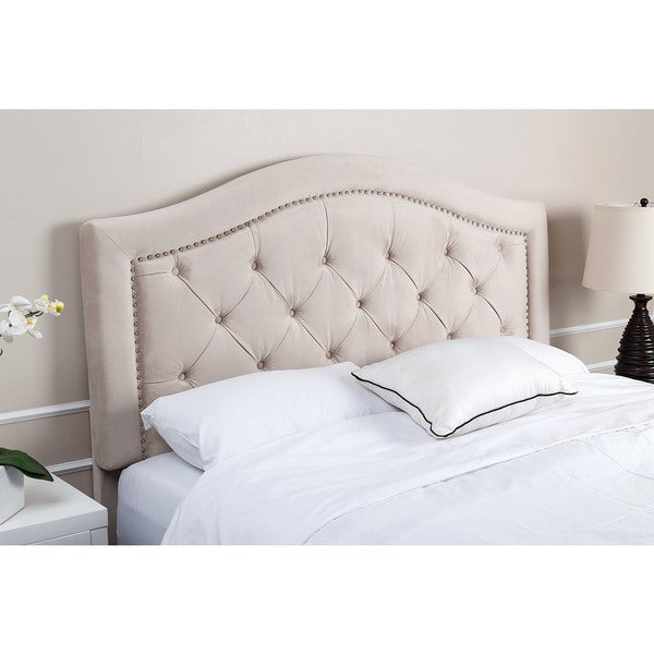 Full Queen Studded Tufted Fabric Headboard By Christopher Knight Home