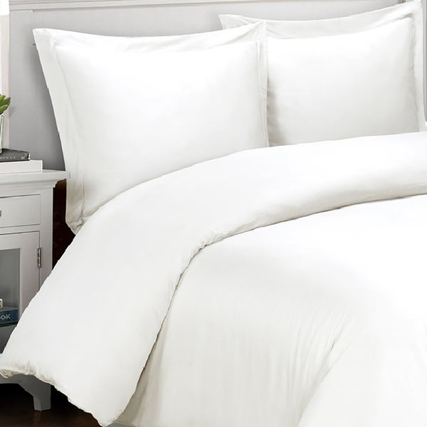 Cotton Percale 400 Thread Count 3-piece Duvet Cover Set