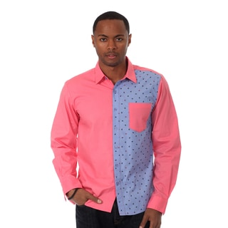 00Nothing Men's Solid Long Sleeve Woven Shirt