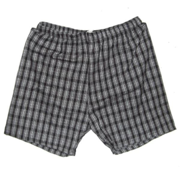 Men's Black and White Plaid Shorts