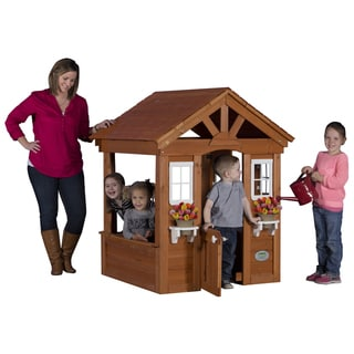 Backyard Discovery Columbus All Cedar Play House - 56 inches high x 46 inches wide x 45 inches long