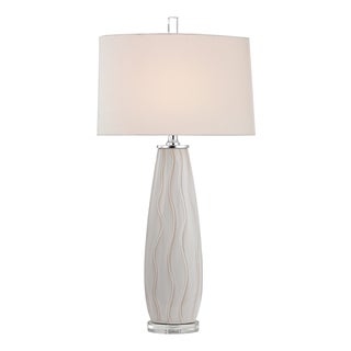 Dimond andover Washington 1-light White Wave Ceramic Table Lamp