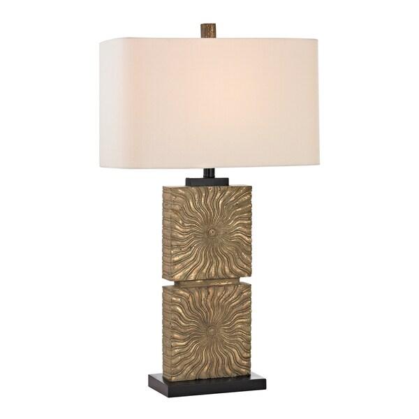 Dimond Shaftesbury Large 1-light Distressed Galati Gold Table Lamp