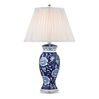 Dimond Blue and White 1-light Hand-painted Ceramic Table Lamp