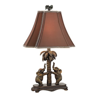 Dimond Adamslane Elephants On Palm Tree 1-light Accent Lamp