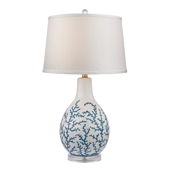 Dimond Sixpenny 1-light Pale Blue Coral Ceramic Table Lamp