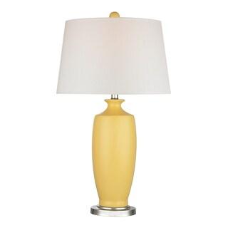 Dimond Halisham Sunshine Yellow 1-light Ceramic Table Lamp
