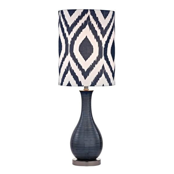 Dimond Hitchin Navy Blue 1-light Textured Ceramic Accent Lamp