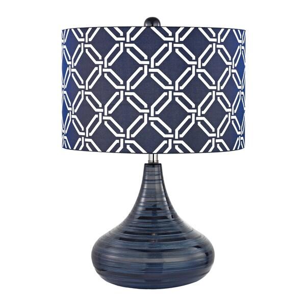 Dimond Peebles Navy Blue 1-light Textured Ceramic Table Lamp