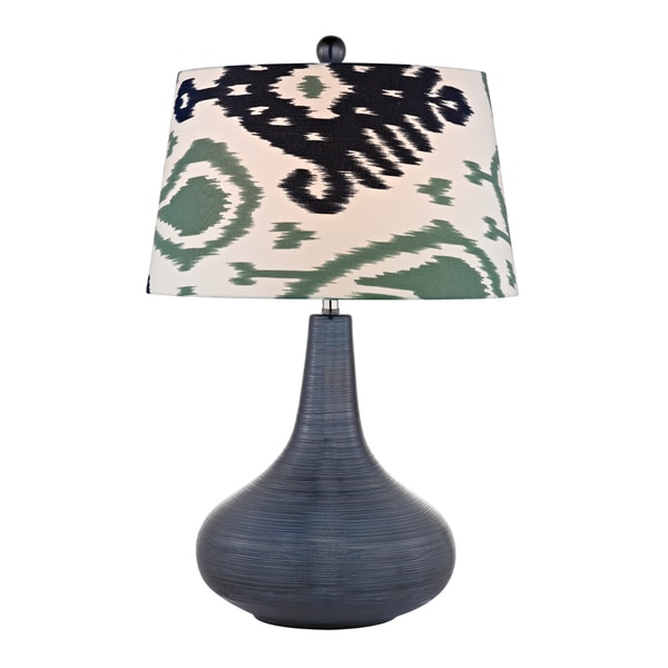 Dimond Penarth Navy Blue 1-light Textured Ceramic Table Lamp