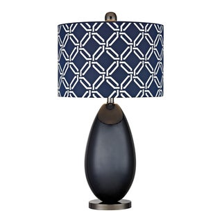 Dimond Sevenoakes Navy Blue 1-light Glass Table Lamp