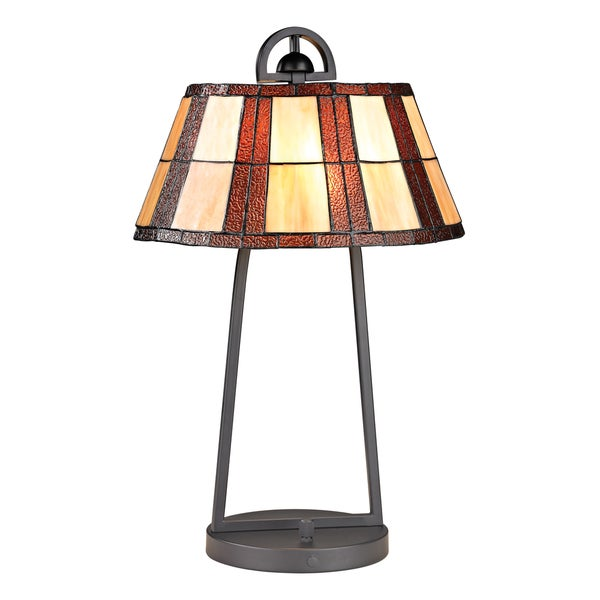 Dimond Falkirk 1-light Tiffany Glass Table Lamp
