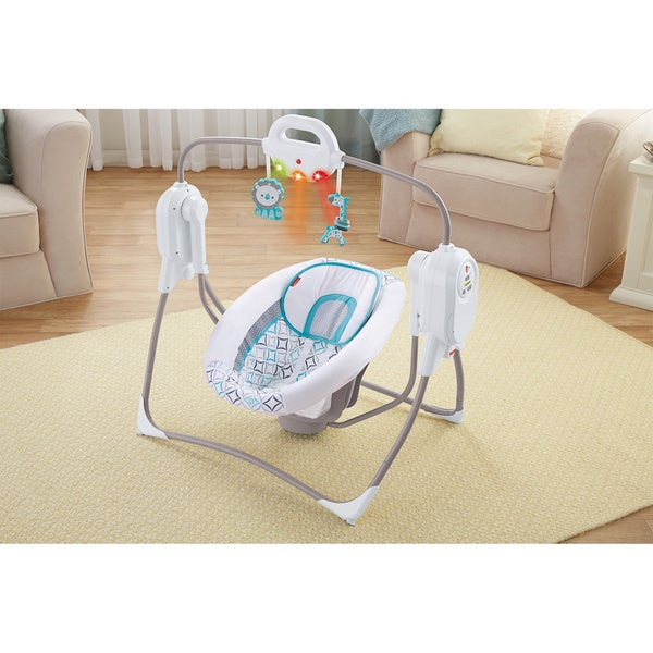 Fisher-Price Twinkling Lights Spacesaver Cradle n' Swing