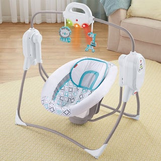 Fisher-Price Twinkling Lights Spacesaver Cradle n' Swing