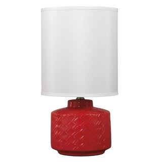 Signature Design by Ashley 1-light Red Ceramic Table Lamp