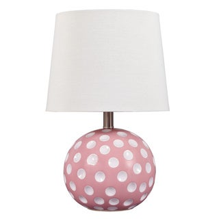 Signature Design by Ashley 1-light Polka-dot Ceramic Table Lamp