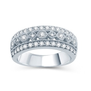 Sterling Silver 1/2ct TDW Diamond Wedding Ring (H-I, I2-I3)