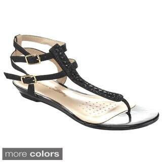De Blossom Collection Women's MENDY-22 T-strap Sandals