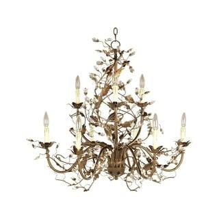 Elegante Gold 9-light Chandelier