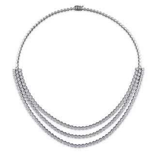 Miadora 18k White Gold 5 3/4ct TDW Diamond Tennis Necklace (G-H, SI1-SI2)