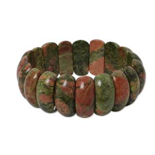 Handcrafted 'Simply Natural' Unakite Bracelet (Thailand)
