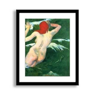 Gallery Direct Paul Gauguin's 'In the Waves (Ondine)' Framed Paper Art