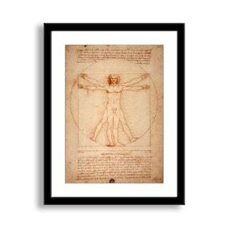 Gallery Direct Leonardo Da Vinci's 'Vitruvian Man' Framed Paper Art